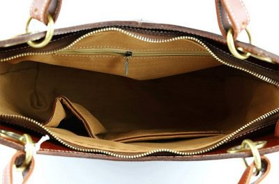 BG New Leather Handbag-inside