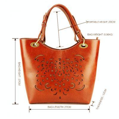 BG New Leather Handbag-size