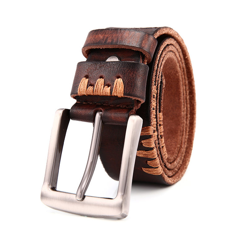 Casual Handmade Leather Belt, Dress Belt