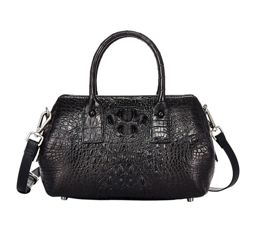 Black Lady Crocodile Handbag
