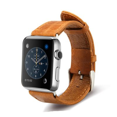 Brown Leather Apple Watch Band 38mm 42mm