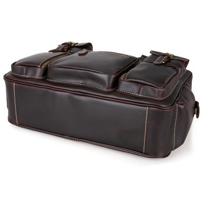 Brucegao casual leather briefcases-Bottom