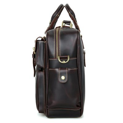 Brucegao casual leather briefcases-Side