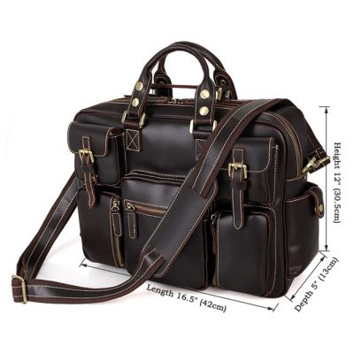 VANGOSEDUN casual leather briefcases-Size