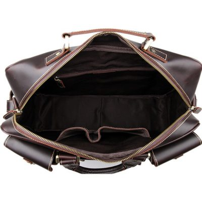 Brucegao casual leather briefcases-inside