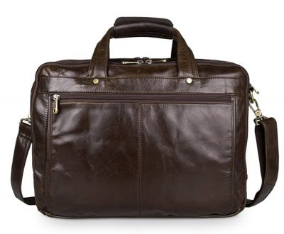 Business Leather Laptop Bag-Back