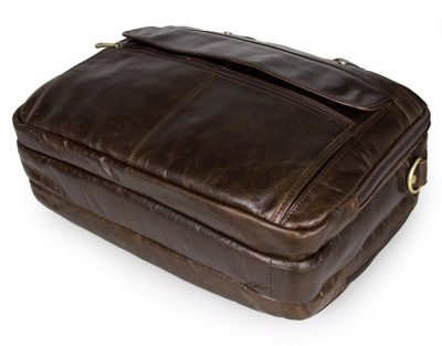 Business Leather Laptop Bag-Bottom