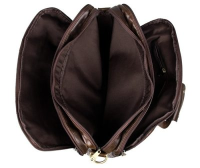 Business Leather Laptop Bag-Inside
