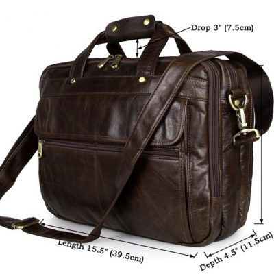 Business Leather Laptop Bag-Size