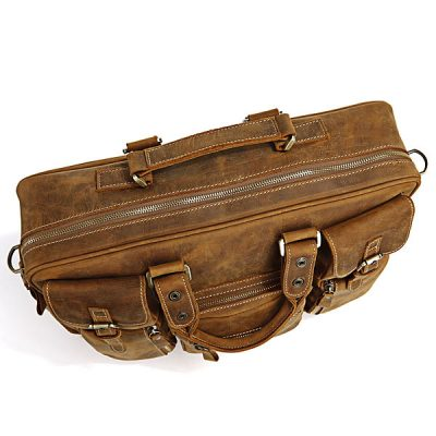 Casual-leather-briefcases-Brown-color-Top