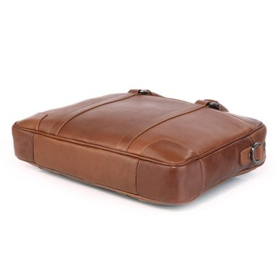 Classic Business Leather Briefcase-Bottom