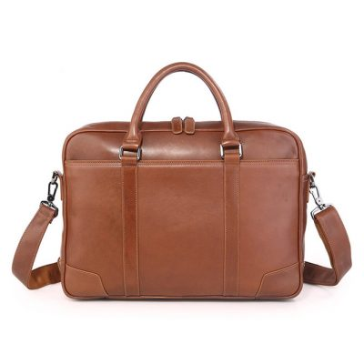 Classic Business Leather Briefcase-Front