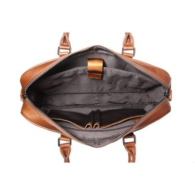 Classic Business Leather Briefcase-Inside
