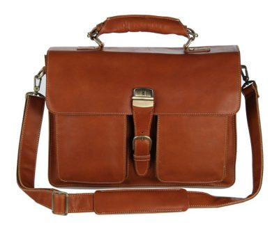 Classic Leather Briefcase-Front