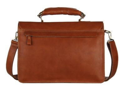 Classic Leather Briefcase-Back