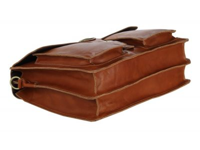Classic Leather Briefcase-Bottom