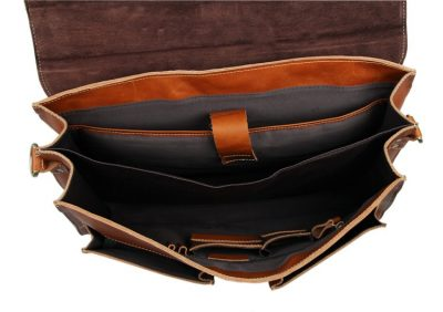Classic Leather Briefcase-Inside