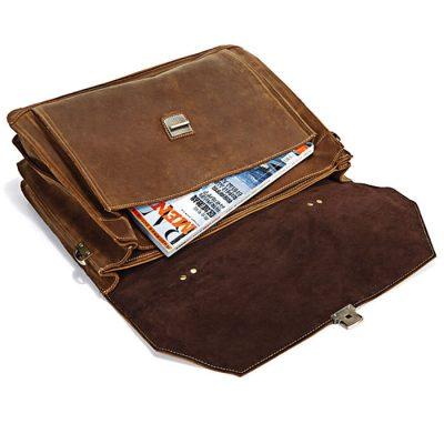 Classic Leather Messenger Bag-Details