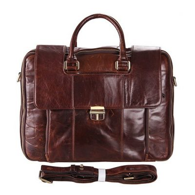 Classical-personality-leather-briefcase