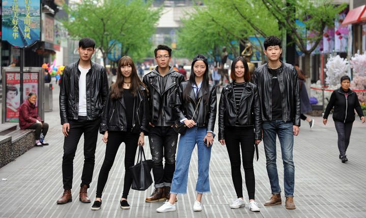 Cool leather clothes