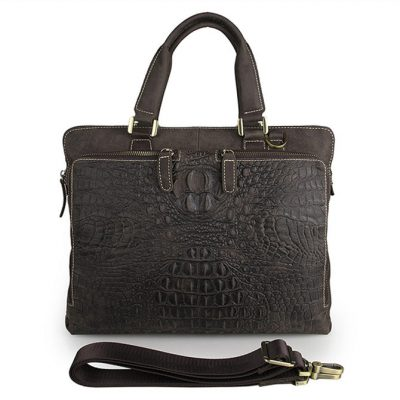 Crocodile Embossed Laptop Bag