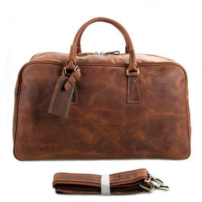 Unisex Leather Duffle Bag Travel Bag