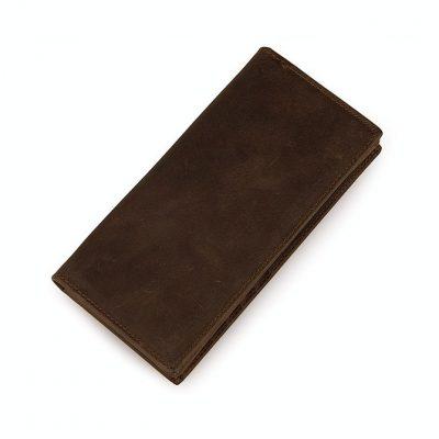Dark Brown Leather Wallet Card Holder Wallet