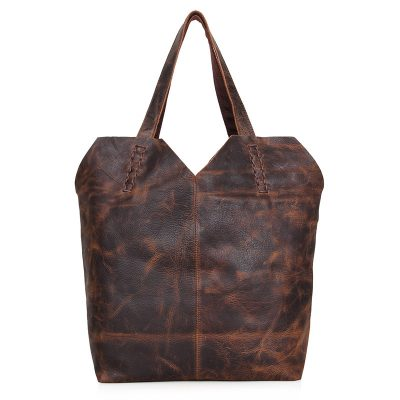 Designer Vintage Handmade Leather Tote Bag