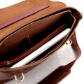 Fashion Leather Messenger Bag-Inside