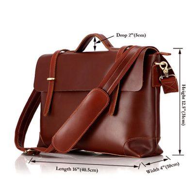 Fashion Leather Messenger Bag-Size