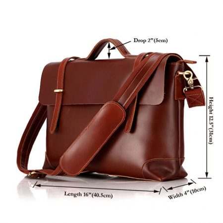 Fashion Leather Messenger Bag-Size