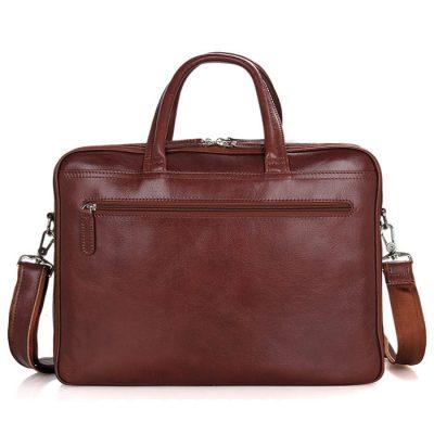 Leather Laptop Bag For Men-Back