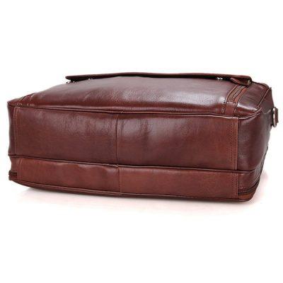 Leather Laptop Bag For Men-Bottom