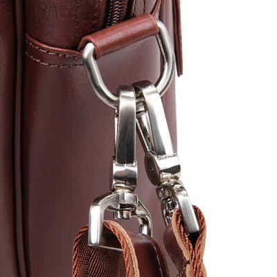 Leather Laptop Bag For Men-Details