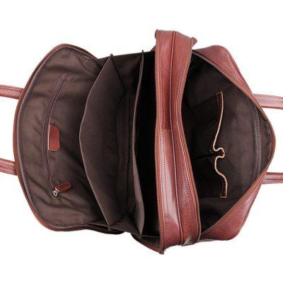 Leather Laptop Bag For Men-Inside