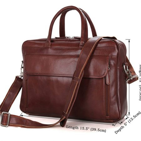 Leather Laptop Bag For Men-Size