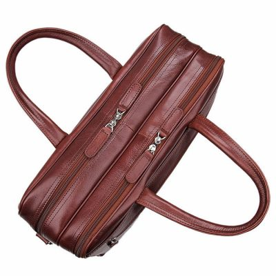 Leather Laptop Bag For Men-Top
