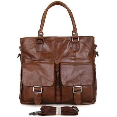 Unisex Leather Briefcase Laptop Bag