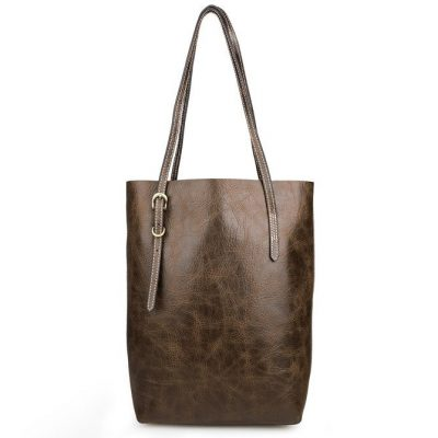 Vintage Leather Tote Shoulder Bag