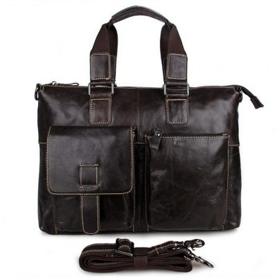 Men and Women's Leather Laptop Messenger Bag / Tote Bags