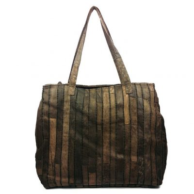 Mosaic Leather Handbag