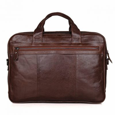 Noble Leather Laptop Bag-Back