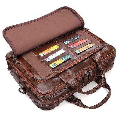 Noble Leather Laptop Bag-Front