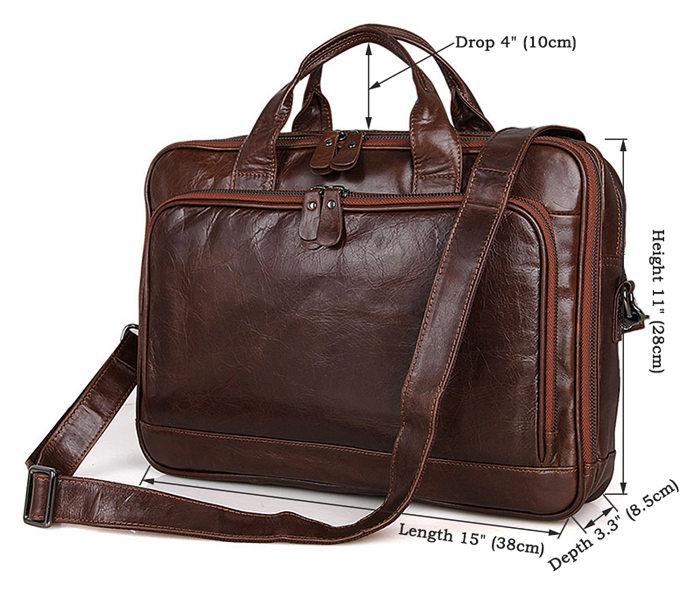 Noble Leather Laptop Bag Messenger Bag