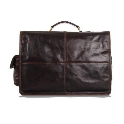 Noble Leather Messenger Bag-Back