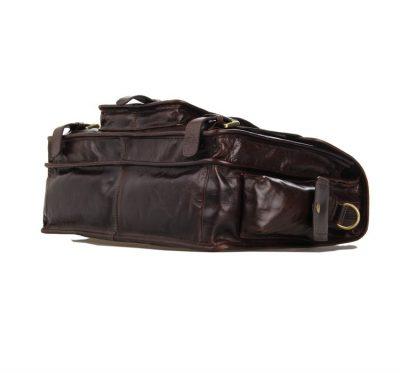 Noble Leather Messenger Bag-Bottom