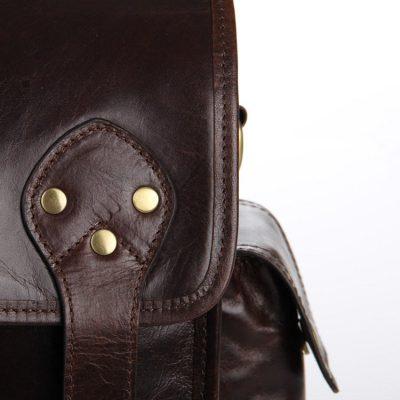 Noble Leather Messenger Bag-Details