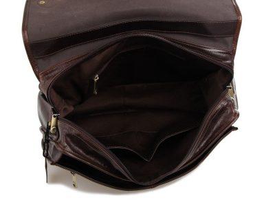 Noble Leather Messenger Bag-Inside