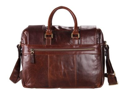 Personality Leather Briefcase-Back
