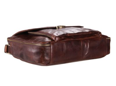 Personality Leather Briefcase-Bottom